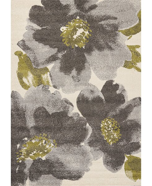 Lyonsdale Cream & Gray Area Rug by Red Barrel Studio