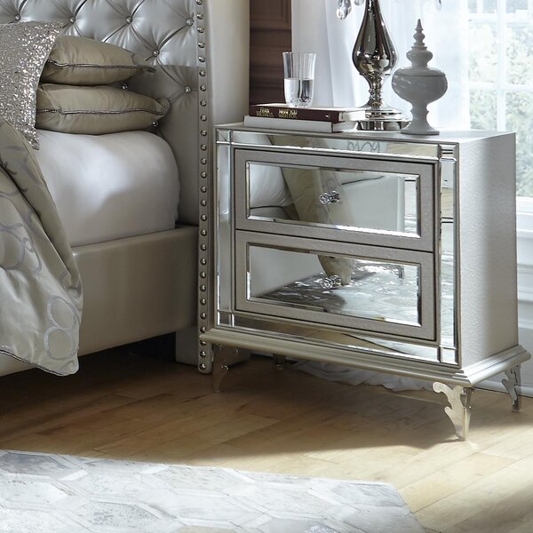 Hollywood Loft 2 Drawer Nightstand by Michael Amini