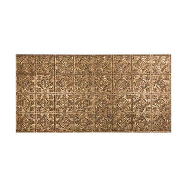 Traditional 1 4 ft. x 2 ft. Glue-Up Ceiling Tile in Cracked Copper by Fasade