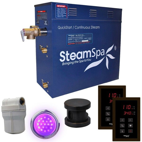 Royal 7.5 kW QuickStart Steam Bath Generator Package by Steam Spa