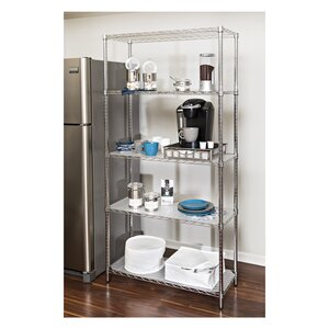 Wayfair Basics 5 Shelf Steel Shelving Unit by Wayf