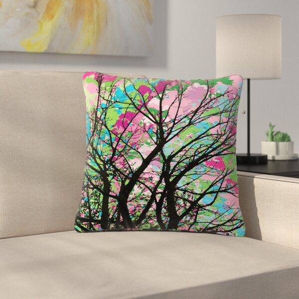 Empire Ruhl Tree of Spring 2 Nature Outdoor Throw Pillow by East Urban Home
