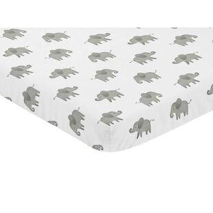 Best Reviews Elephant Fitted Crib Sheet BySweet Jojo Designs