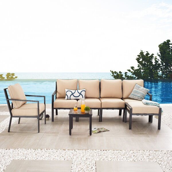 Aleck 7 Piece Sectional Seating Group with Cushions by Red Barrel Studio