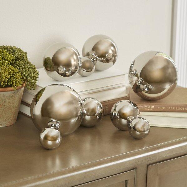 9 Piece Iron Decorative Ball Sculpture Set by Will
