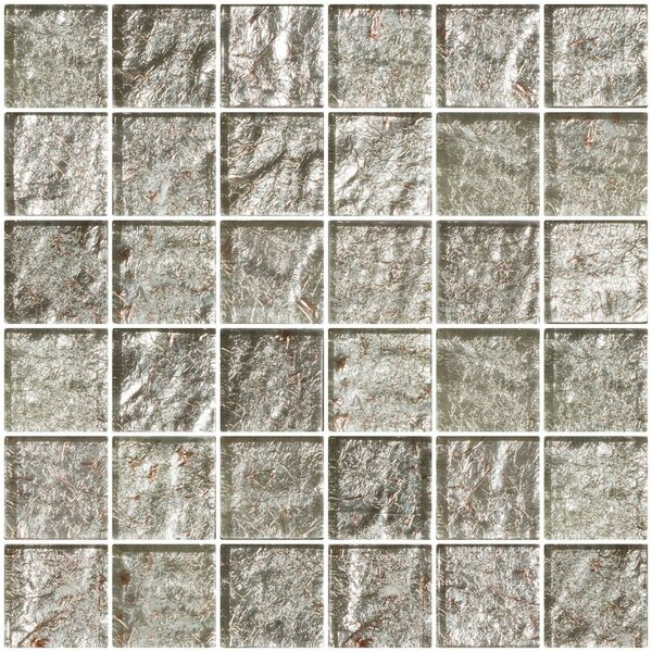 2 x 2 Glass Mosaic Tile in Crushed Crystal by Susan Jablon
