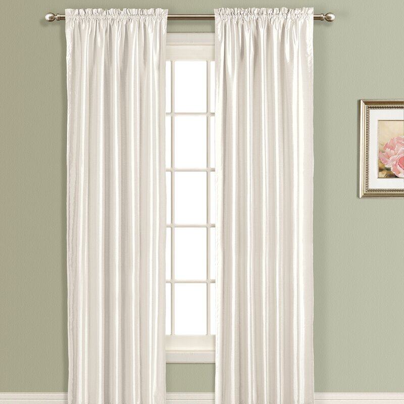 Anna Silk Rod Pocket Single Curtain Panel
