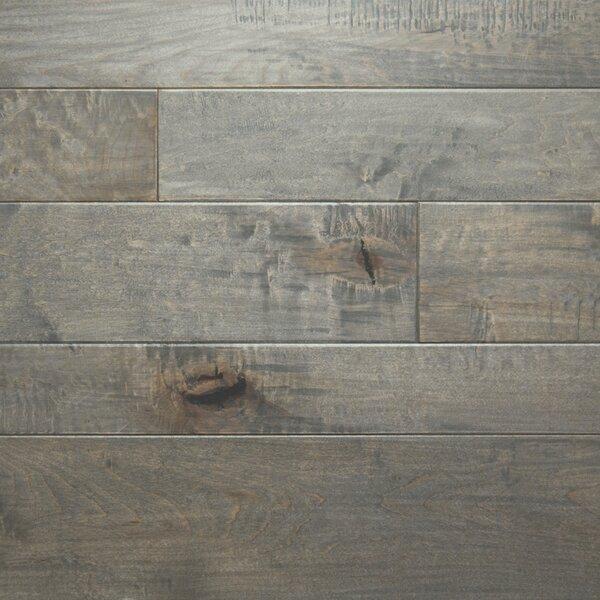 Random Width Engineered Maple Hardwood Flooring in Ocean Gray by Somerset Floors