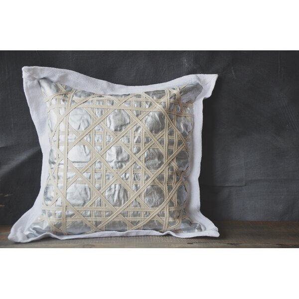 Patina Vie Vintage Caning Sea Linen Throw Pillow by Patina Vie