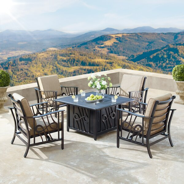 Mccomas 5 Piece Dining Set with Cushions by Canora Grey