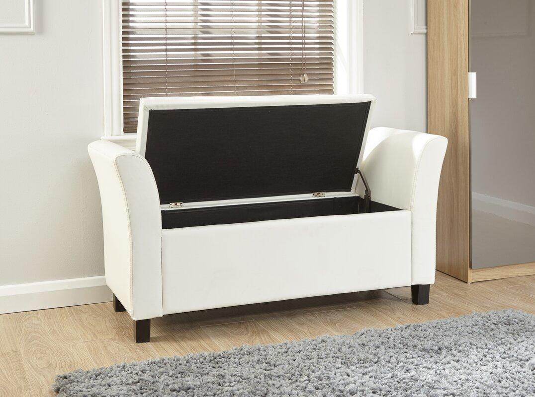 Andover Mills Jeanette Upholstered Storage Bedroom Bench Reviews