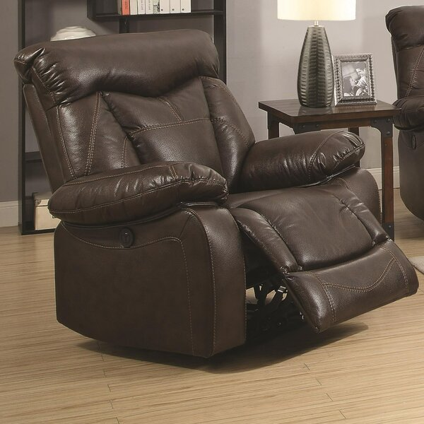 Kittle Upholstered Power Wall Hugger Recliner by Alcott Hill