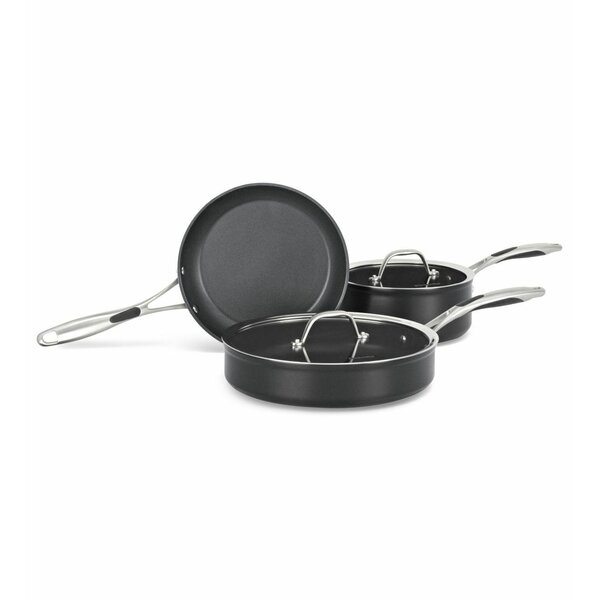 Hard Anodized Non-Stick 3 Piece Cookware Set by KitchenAid