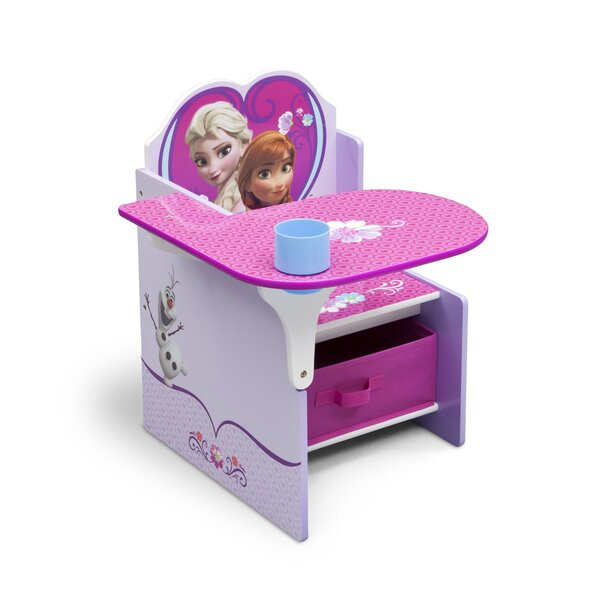 Disney Frozen Kids Desk Chair with Storage Compartment and Cup Holder by Delta Children