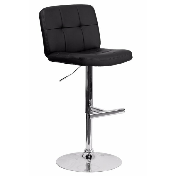 Reuben Adjustable Height Swivel Bar Stool by Orren Ellis