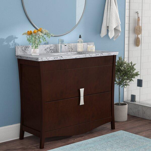 Karter Floor Mount 48 Single Bathroom Vanity Set with Single Hole Faucet Mount