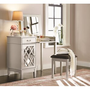 Thomasina Vanity Set with Mirror by Willa Arlo Interiors