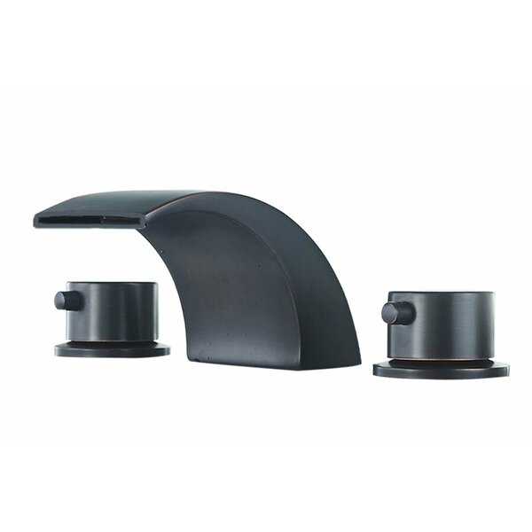 Deck Mount Double Handle LED Widespread Bathroom Faucet