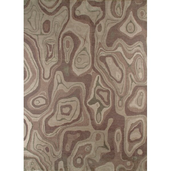 Valley Hand-Knotted Gray/Brown Area Rug by M.A. Trading