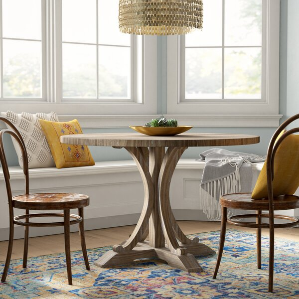 Duke Solid Wood Dining Table by Mistana