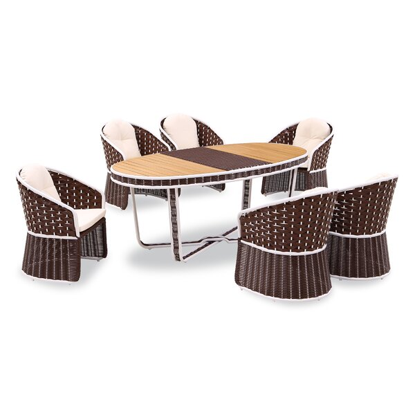Polis 7 Piece Dining Set by Bay Isle Home