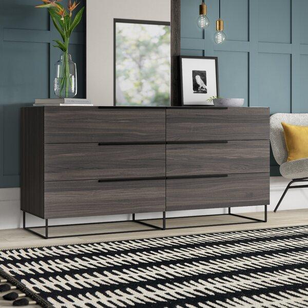 Mraz 6 Drawer Double Dresser by Mercury Row