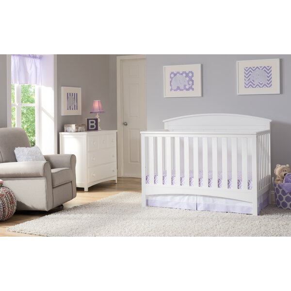 Archer 4-in-1 Convertible 2 Piece Crib Set by Delta Children