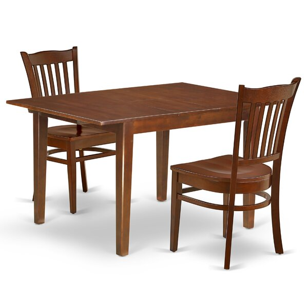 Aletha 3 Piece Extendable Solid Wood Dining Set by Winston Porter Winston Porter