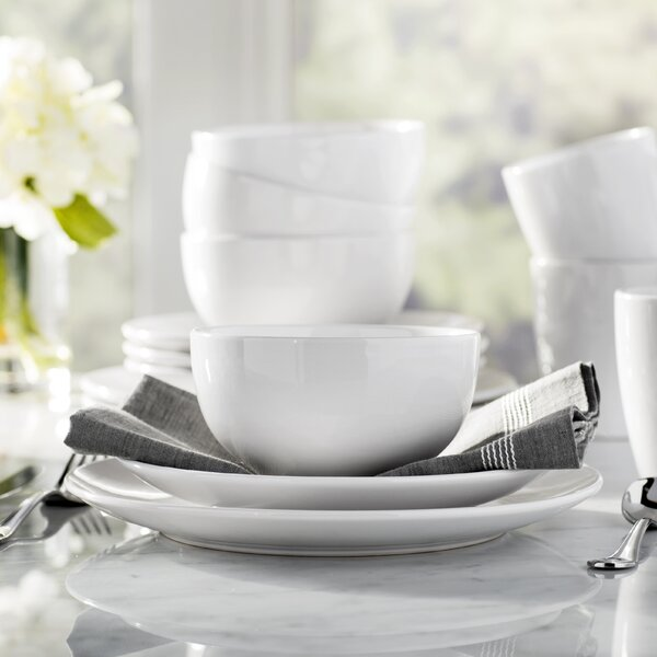 Wayfair Basics 12 Piece Stoneware Dinnerware Set,