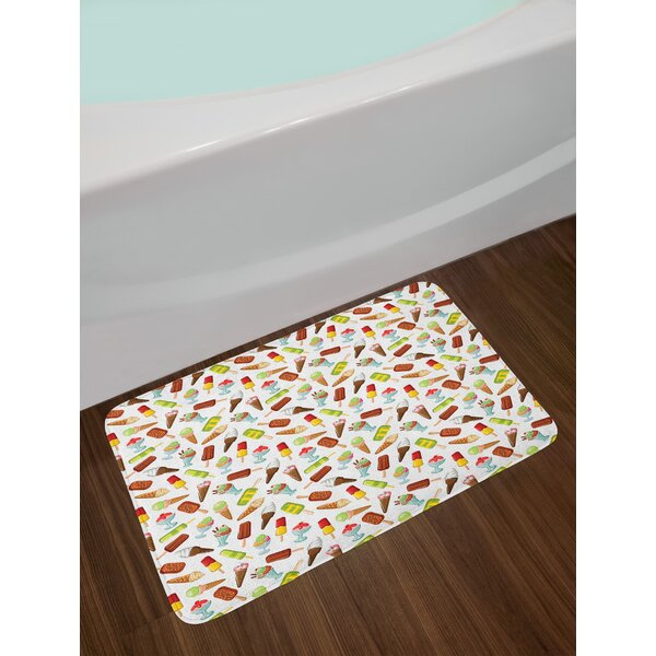 Frozen Ice Cream Bath Rug by East Urban Home