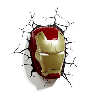 Where buy  3D Iron Man Mask Deco 2-Light Night Light By 3D Light FX