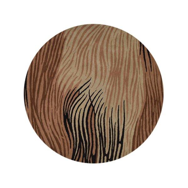 Beegle Oushak Oriental Hand-Tufted Wool Beige/Brown/Black Area Rug by Bloomsbury Market