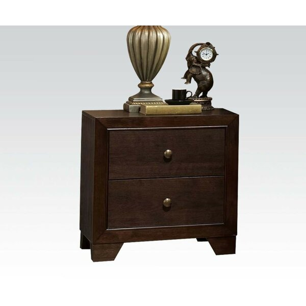Roseboro 2 Drawer Nightstand by Alcott Hill