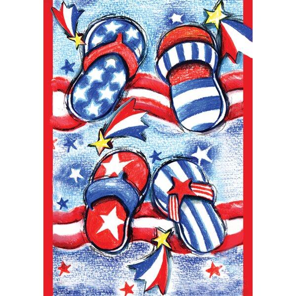 USA Flip Flops Garden flag by Toland Home Garden