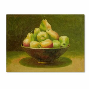 'Still Life with Pears' by Rio Painting Print on Canvas by Trademark Fine Art
