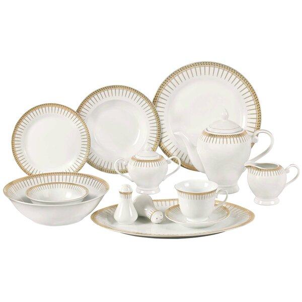 Deakin Porcelain 57 Piece Dinnerware Set, Service for 8 by Astoria Grand