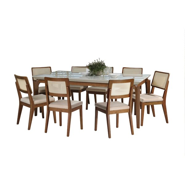 Tatro 9 Piece Solid Wood Dining Set by Union Rustic