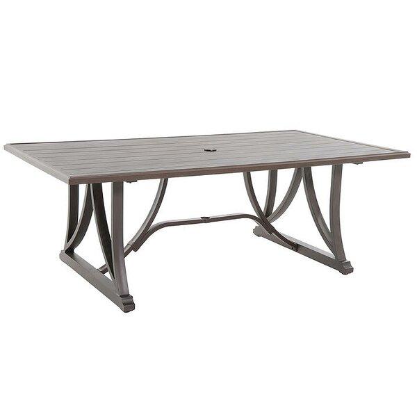Gerolf Metal Dining Table by Latitude Run