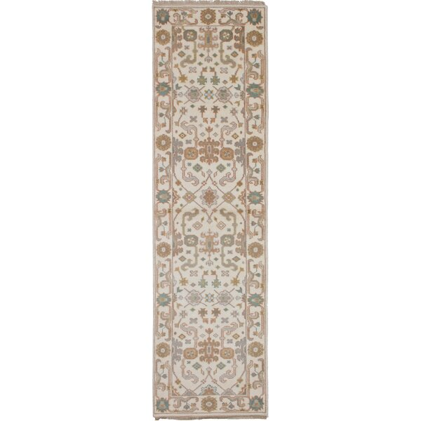 One-of-a-Kind Doggett Hand-Knotted Wool Cream Area Rug by Isabelline