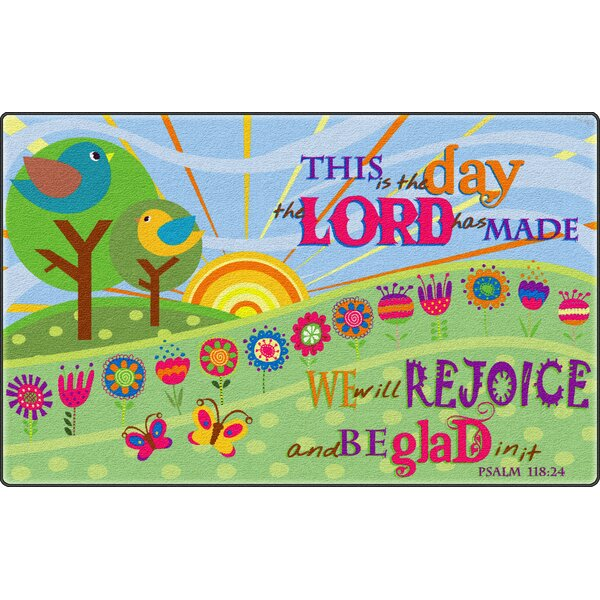 This Is The Day The Lord Has MadeGreen Area Rug by Flagship Carpets