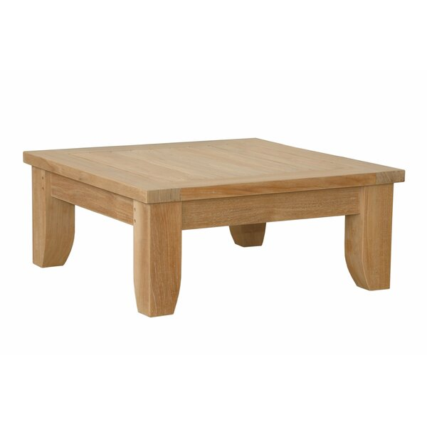 Luxe Outdoor Teak Ottoman with Cushion by Anderson Teak