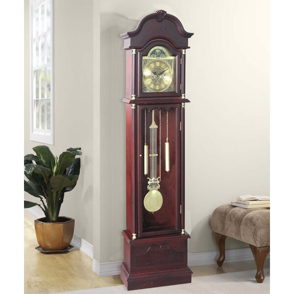 Traditional 72 Wood Floor Standing Grandfather Clock by Astoria Grand