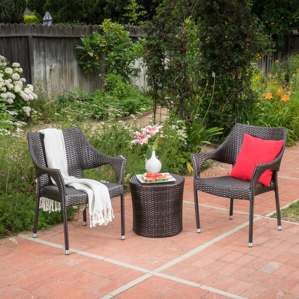 Brixey 3 Piece Rattan Seating Group by Wrought Studio