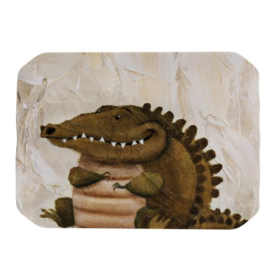 Smiley Crocodiley Placemat by KESS InHouse