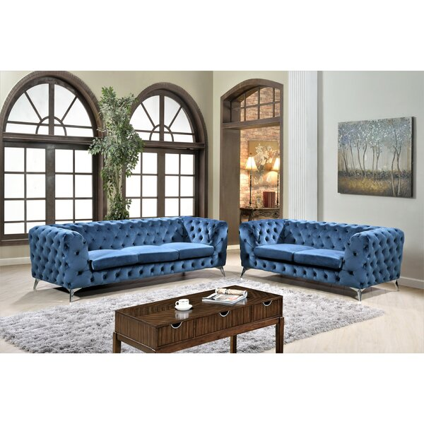 Khan 2 Piece Chesterfield Living Room Set by Mercer41