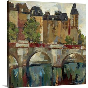 'Paris Late Summer II' by Silvia Vassileva Painting Print on Canvas by Canvas On Demand