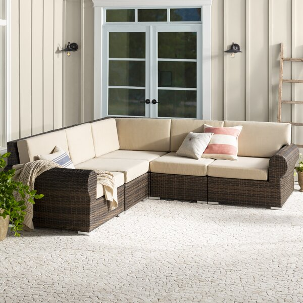 Brookhaven Patio Sectional with Cushions by Birch Lane™ Heritage