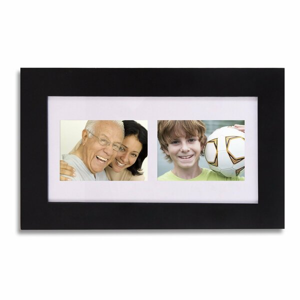 2 Opening Wood Wall Hanging Picture Frame with Mat by Zipcode Design