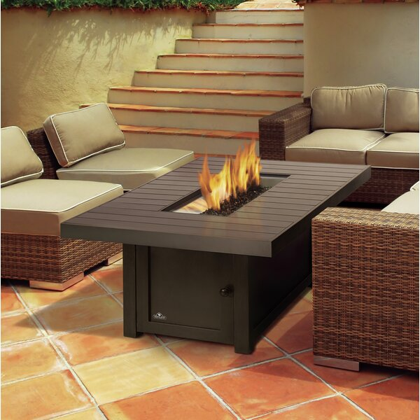 St. Tropez Aluminum Propane/Natural Gas Fire Pit Table by Napoleon
