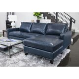 Navy Blue Leather Sectional | Wayfair